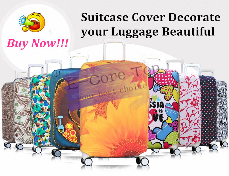 Free Shipping Travel Luggage Protective Suitcase Cover,Luggage Cover Apply To 18~30 Inch Case(China (Mainland))