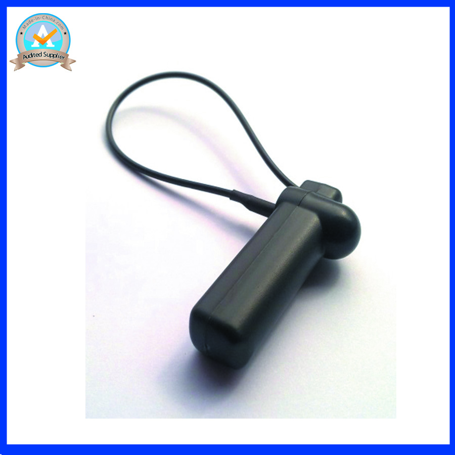 58Khz Reusable eas security tag with lanyard,eas am hard tag with lanyard, black color eas anti theft tag X1000pcs(China (Mainland))