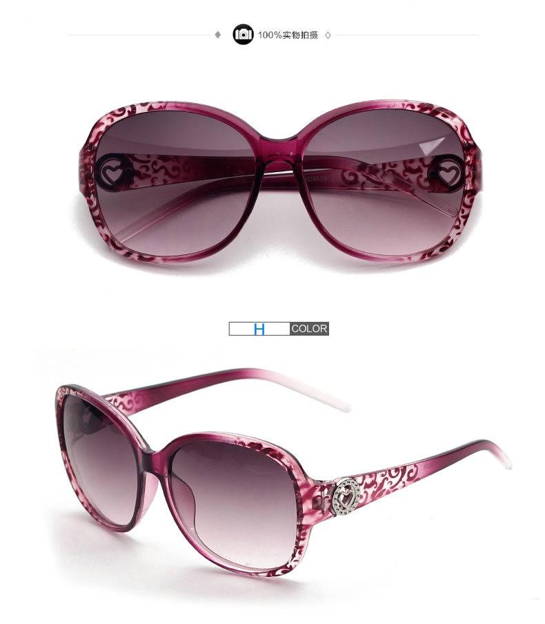 IVE  Sunglasses Women Rhinestone Female Sun Glasses Black Oculos De Sol Feminino Gafas De Sol 9529