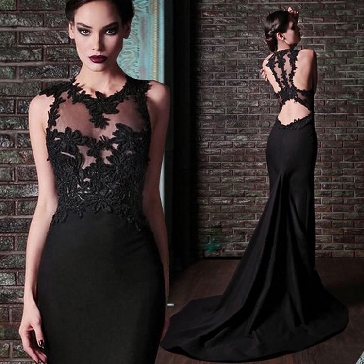 Longue robe noire soiree