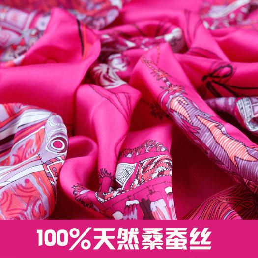 Quality vintage silk Fashion Hand Fan Pattern Foulard Women Shawls Twill Satin Scarf,90*90CM Square,100% Silk Head Scarves(China (Mainland))