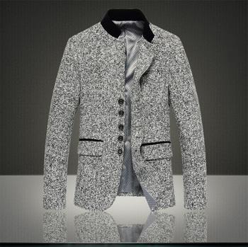 Осень стиль пиджак мужчины, Приталенный верхний дизайн костюм, Корейский приталенный ...