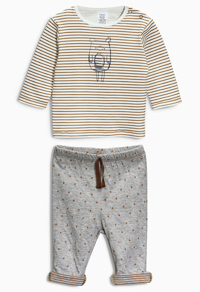 2016 new style newborn baby boy girl clothes Long sleeve Stripe Top + pants 2pcs suit infant clothing set baby costume(China (Mainland))