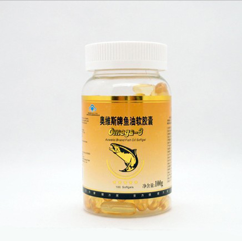 24 bottles/lot 1000mg*100 /bottle Deep Sea Omega 3 Fish Oil decrease blood viscocity free shipping