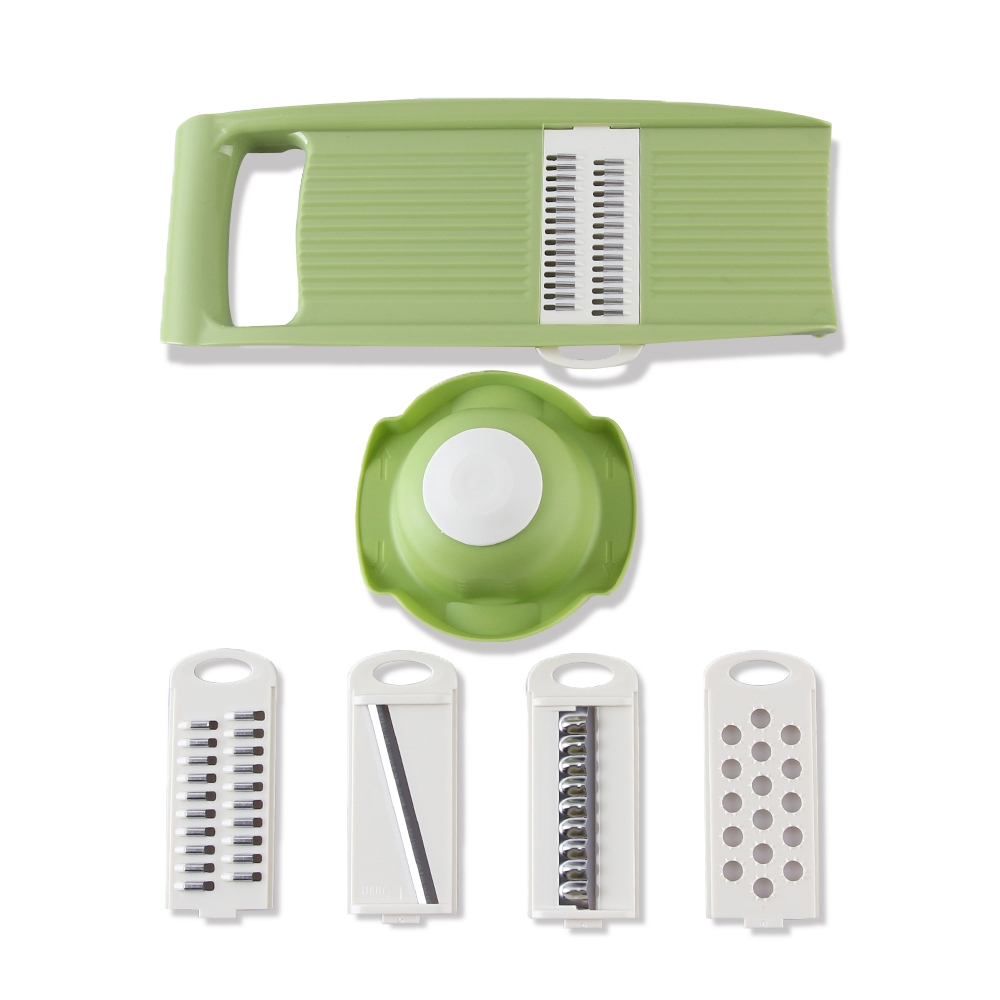 Multifunctional Mandoline Slicer with 4 Interchangeable Stainless Steel Blades -Vegetable Cutter Peeler Slicer Grater(China (Mainland))