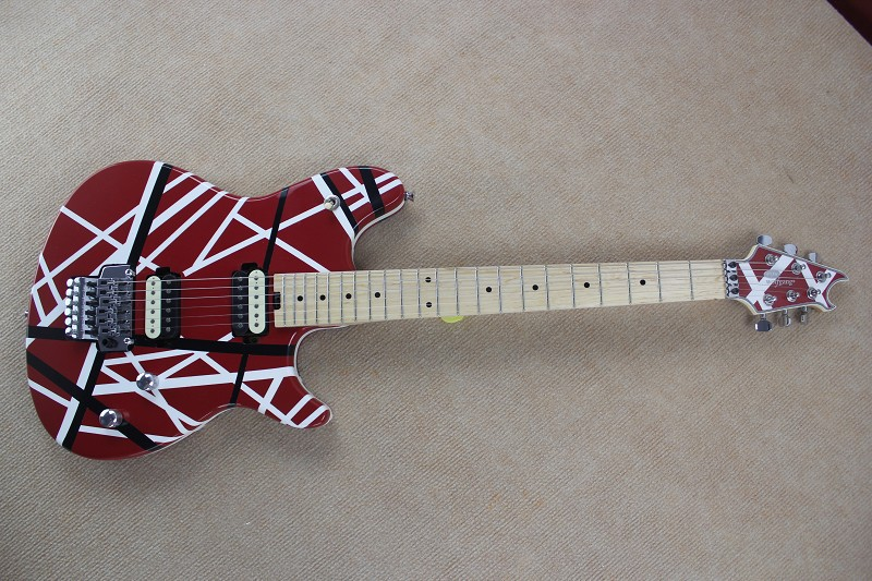 Brand new arrival guitars kramer 5150 RED and white EVH series ARI tremolo Electric guitar free shipping(China (Mainland))