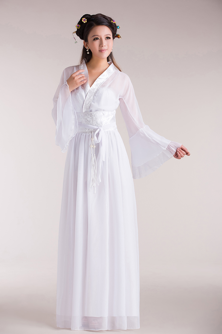 White Chinese Dresses for Women