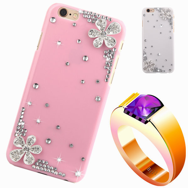 8 color diamond rhinestone case For apple iphone 5c Floral mobile Phones & Accessories luxury bling plastic back cover(China (Mainland))