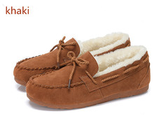 2016 New Comfortable Woman Loafers Plush Made Warm Woman Shoes Casual Woman Shoes Autumn Winter Round Toe Woman Flats