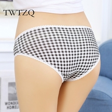 Buy TWTZQ 2016 New Sexy Underwear Women's Panties Plaid Calcinha Cute Lace Lingerie Briefs Female Cotton Lingerie 3NK094 for $7.76 in AliExpress store