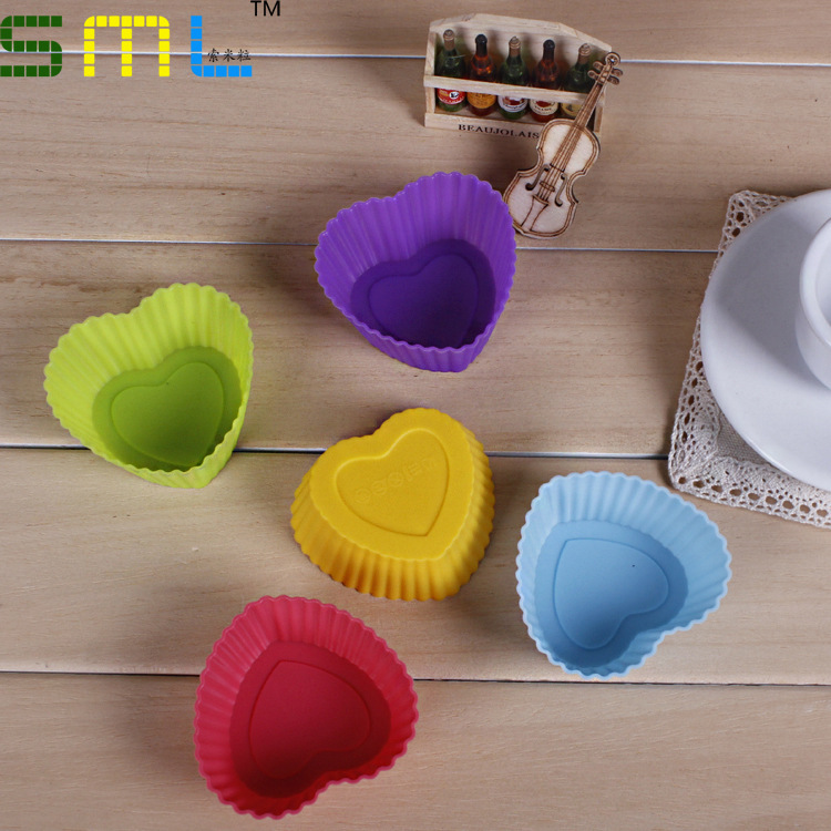 Wholesale Silicone Cake/pie/pudding/chocolate Mold Cupcake Mold Baking Mould Bakeware kitchen accessories 5Colors(China (Mainland))