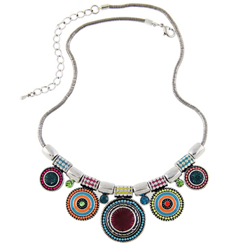 Ethnic Colorful Pendant Necklace