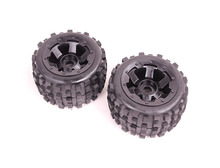 Buy BadLand tyres 2 pcs of baja 5b 85038 1/5 Scale RC KM Rovan HPI Baja 5B Buggy Knobby Rear Wheels and Tires 2 pcs fee shipping for $53.00 in AliExpress store