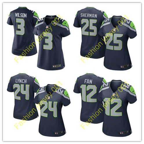 2016 NO1 Women's New arrival @1 Style Seattle @1 Seahawks @1 free shipping Jer Stitched logo,ship out fast(China (Mainland))