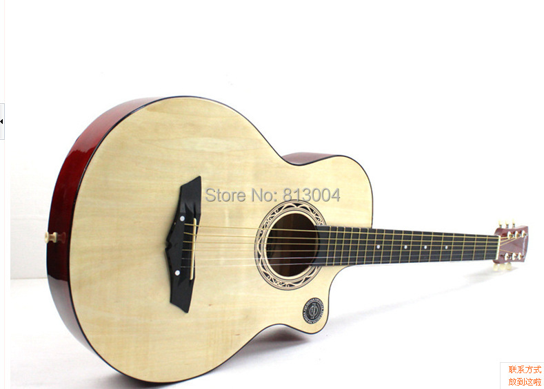 free shipping guitar 38 inches log lubricious length 98 cm acoustic guitar in guitar from. Black Bedroom Furniture Sets. Home Design Ideas