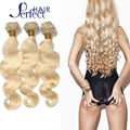 Queen love hair products brazilian virgin hair straight 3pcs lot #613 blonde virgin hair hot selling platinum blonde weave