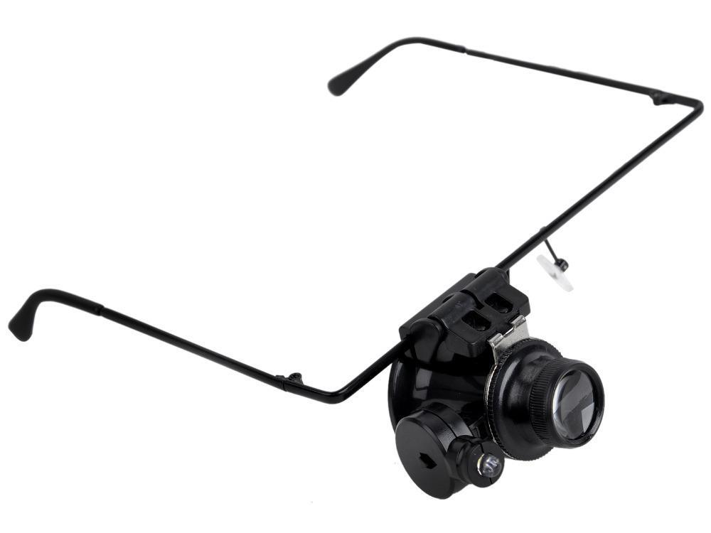 20X Glasses Type Watch Repair Magnifier Magnifying Glasses with LED Light Eyewear Magnifying Loupe(China (Mainland))