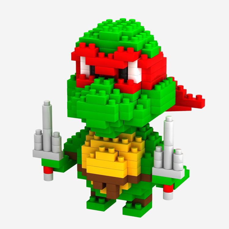 Diamond Building Blocks Teenage Mutant Ninja Turtles Raphael etc. Blocks Bricks Action Figures Education Toys For Kids LOZ 9149(China (Mainland))