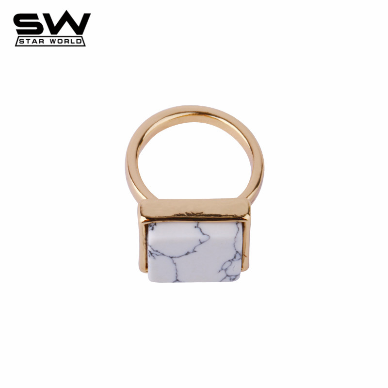 STARWORLD New Fashion Hot Simple Marble Lines Rings for Women Otherstories Style European Big Brand J003(China (Mainland))