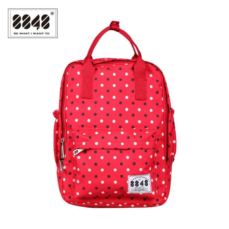 8848 Rucksack Backpack School Bags for Teenagers Red Dots Women Backpacks Bolsas Mochila Masculina Colorful Backpack Female