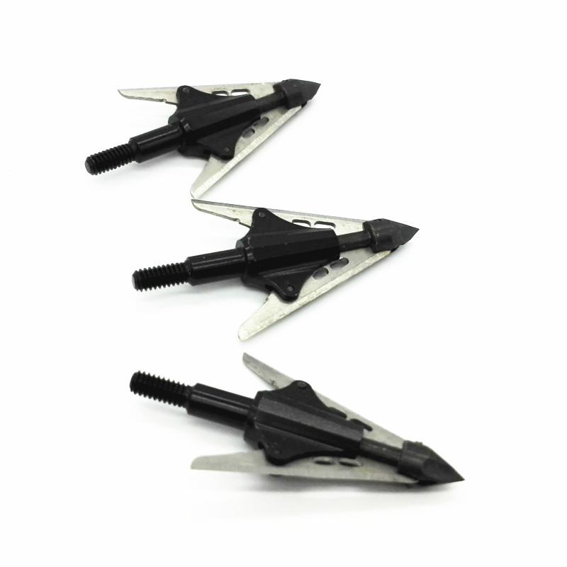3PCS compound bow hunting arrow broadhead rotary arrow tip expandable blades 2 sharpest broadheads RJ021
