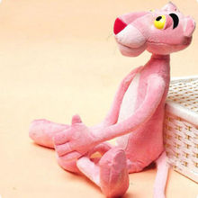 Child Gift Cute Naughty Pink Panther Plush Stuffed Doll Toy Home Car Decor 40CM Free Shipping(China (Mainland))