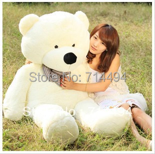 120cm three colors big teddy bear skin coat plush toys stuffed toy baby toy birthday gifts Christmas gifts(China (Mainland))