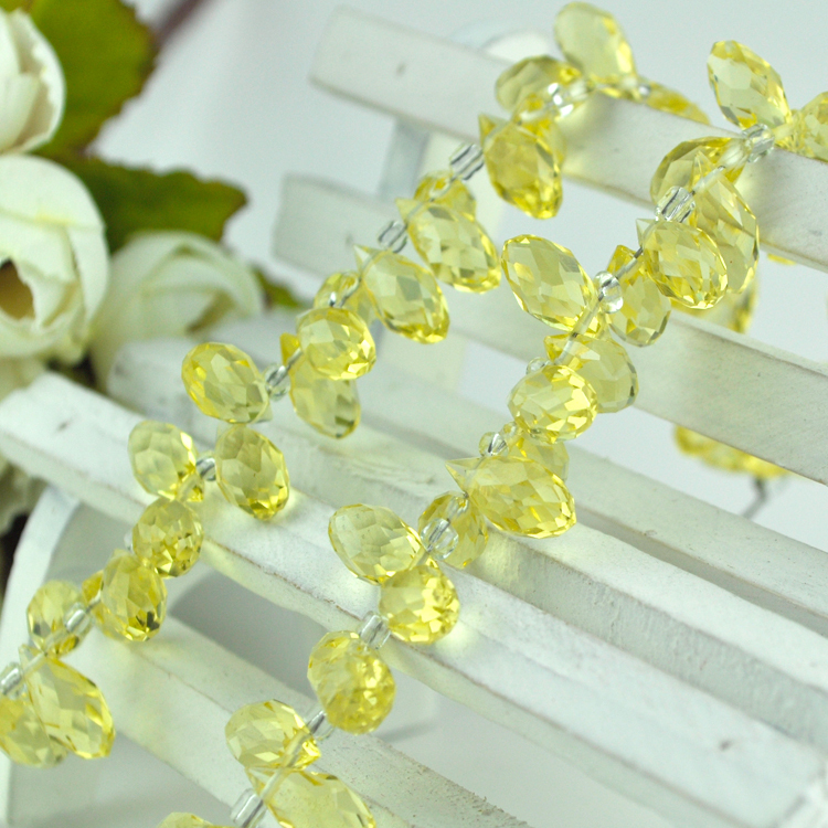 Manufacturers Selling Yellow Crtstal Loose Spacer Beads Fancy jewelry Craft Curtain Light DIY Making 500pcs 6*12mm(China (Mainland))