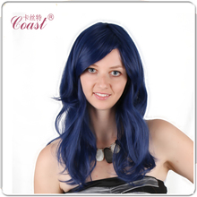 26″(140 g) Wigs For Women Long Dark Blue Curly Wavy Wigs For Sale Daily Hair Wigs Free Shipping QY-913935