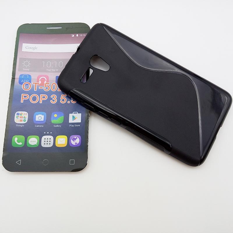 10P NEW Clear Transparent TPU Gel Skin Cellphone Case S Line Case For Alcatel One Touch Pop 3 5.5 Soft Back Fundas Capa Celular(China (Mainland))