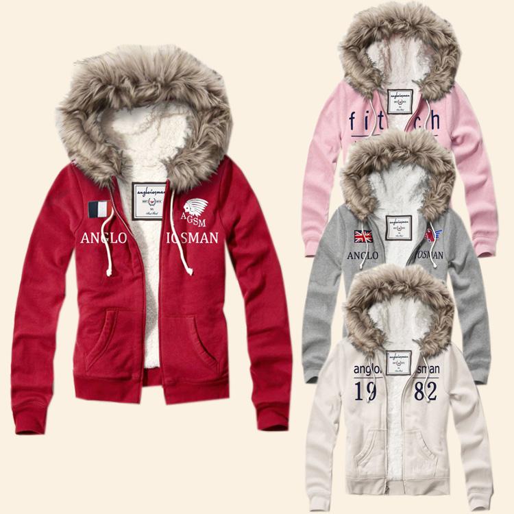 Hot Sale fashion women hoodie brand sweatshirt jacket coat wool liner winter hollistic wome hoodie sweatshirt
