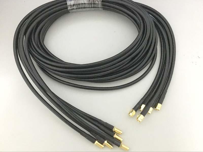 5pcs SMA Female Nut Bulkhead to SMA male RG58 RF Cable Connector Adapter 2m 200cm(China (Mainland))