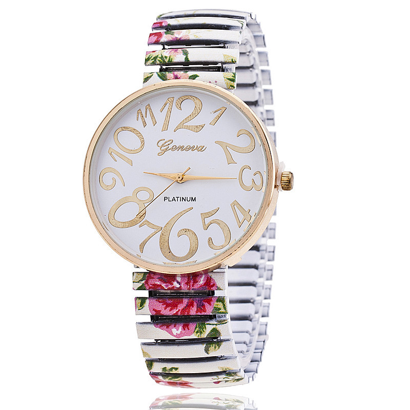 New Arrival Fashion Watch Colorful Roses Stretchable Watch Women Flower Watch Relogio BW-SB-1174<br><br>Aliexpress