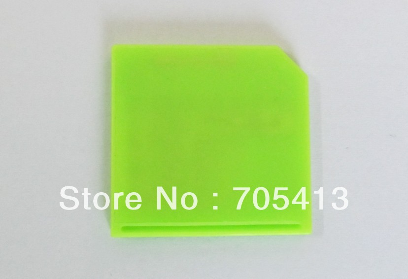 10pcs MicroSD to SD Card Adapter short sd card adapter, Support TF 64GB, Green color, for notebook laptop(China (Mainland))