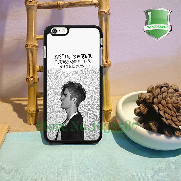 Justin Bieber purpose world tour original black cell phone cases for iphone 6 6 plus 6s 6splus 5 5s 5c 4 4s Y-0312(China (Mainland))