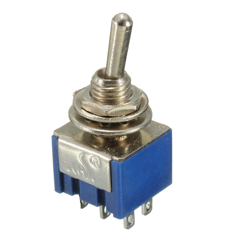 5Pcs 6-Pin 3 Position DPDT ON-ON Miniature Mini Toggle Switch(China (Mainland))