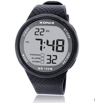 Xonix Men Sports Watch Digital Waterproof 100m Swimming Watch Led Light Chronograph MultiFunction Diver Watch Outdoor Wristwatch