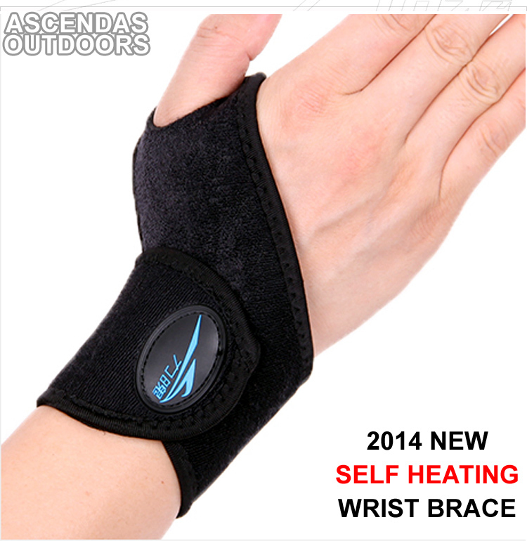 2016 New Free Shipping 1 Pair Self heating Wrist Support,Mini Portable Elastic Wrap Strap Wrist Brace Support
