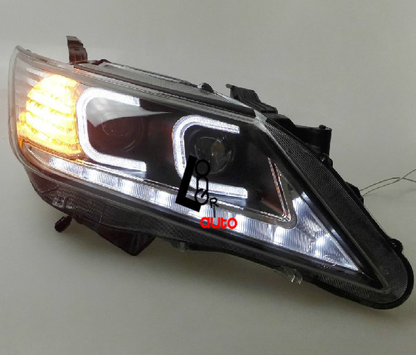 For TOYOTA CAMRY 12-14 HID Xenon LED Headlight Lamp DRL Angle Eyes RETAIL/WHOLESALE FREESHIPPING<br><br>Aliexpress