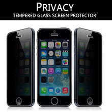 50pcs for iphone 5s 4s 2.5D anti spy privacy tempered glass screen protector for iphone 5s 5G 4S 4G glass film