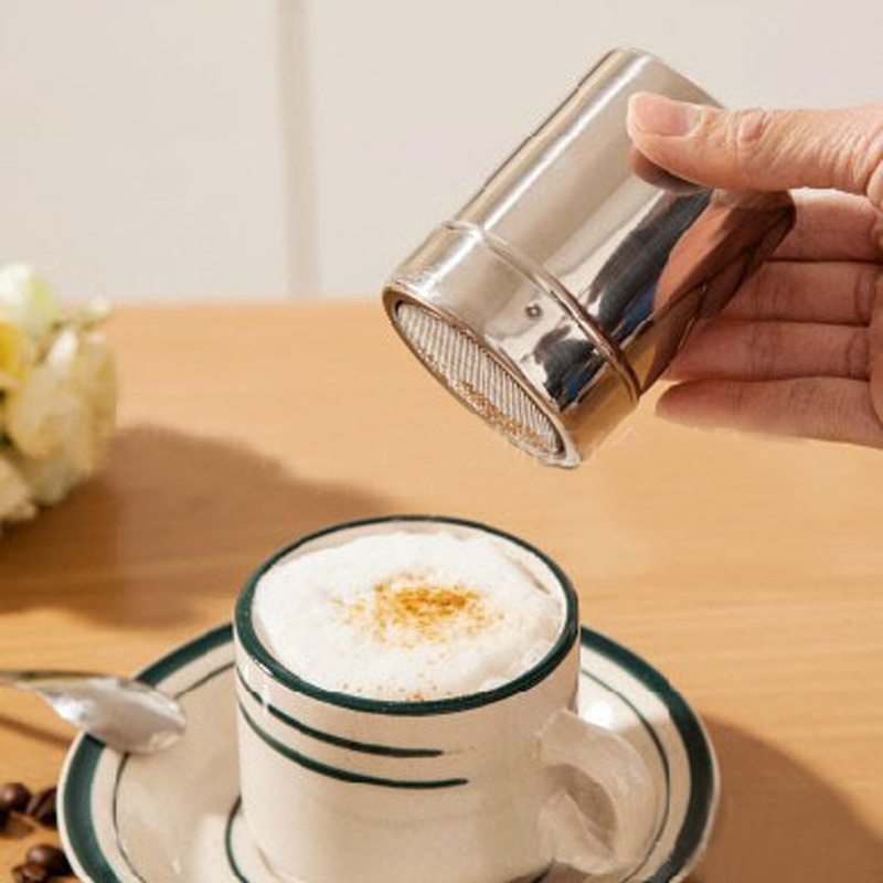1 pc Stainless Steel Sieve Chocolate Shaker Cocoa Flour Salt Powder Icing Sugar Cappuccino Coffee Sifter Kitchen Cooking Tools(China (Mainland))