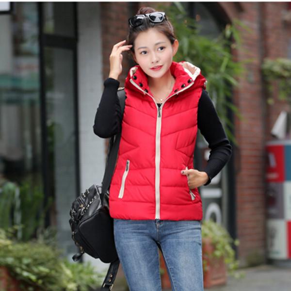 2015 Winter's Vests Outerwear Coats Women Winter Vest Fashion Cotton Coats for Women Winter Waistcoat Plus Size Free Shipping