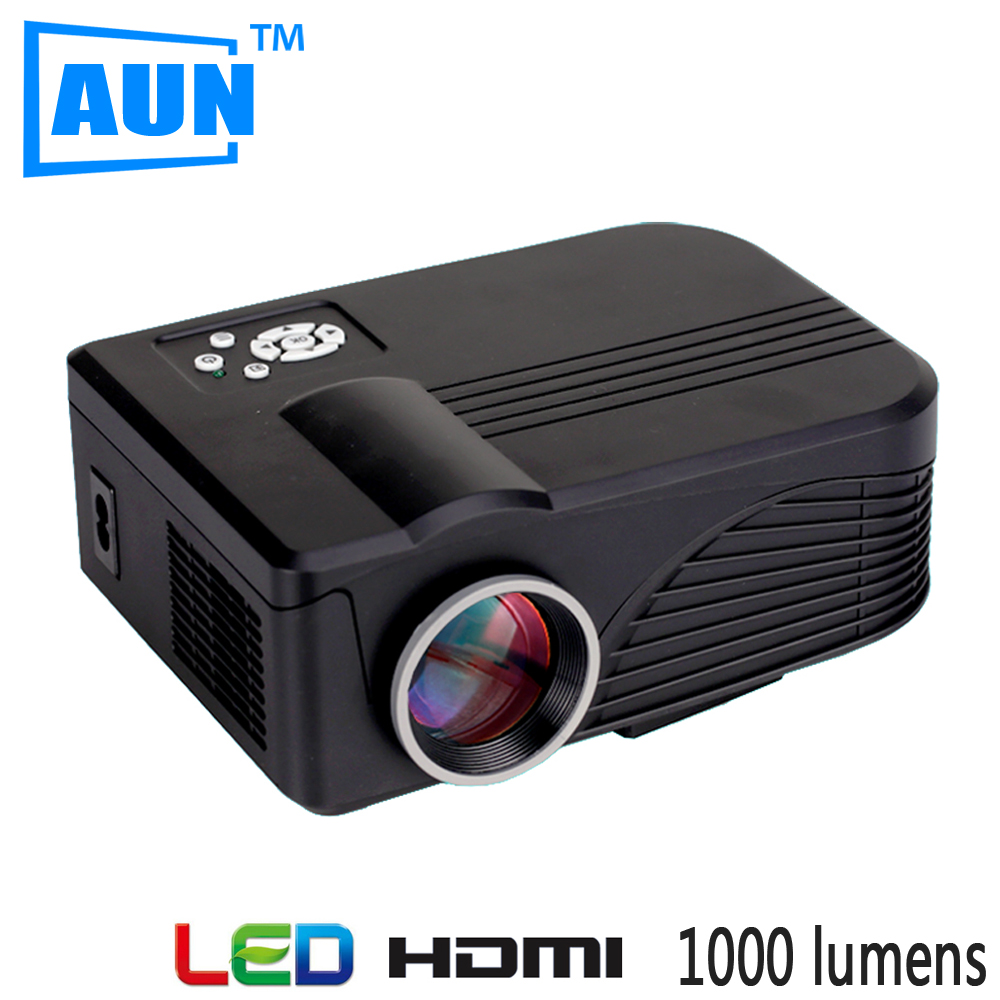 AUN LED Projector 1000 Lumens Support Ceiling Mount 720P 1080P 3D Projector MINI Projector for Home Theatre Ceiling Mount LBX9H
