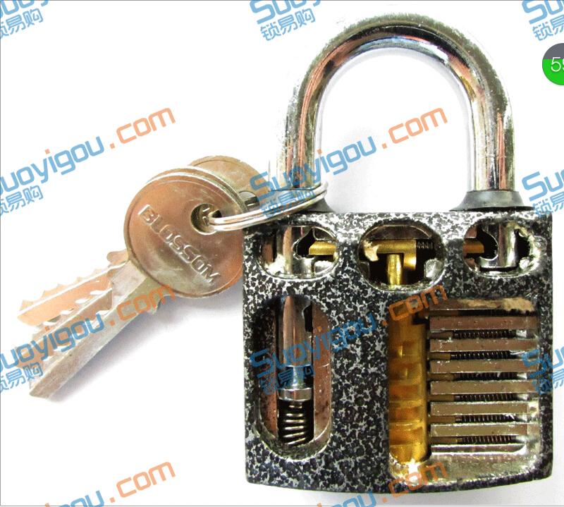 Cutaway inside view of Practice Padlock Lock training Skill Pick for Locksmith(China (Mainland))
