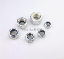 Buy 50pcs Metric M6 304 Stainless Steel Hex Head Nylon Insert Lock Jam Stop Nuts for $5.70 in AliExpress store