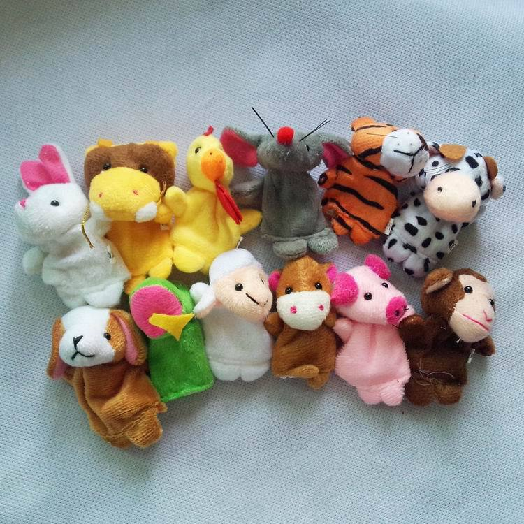 60pcs/Lot Plush Chinese Zodiac Finger Puppets,Stuffed Dolls,Animal Storytellers,Toys Talking Props For  Kids/Babies<br><br>Aliexpress