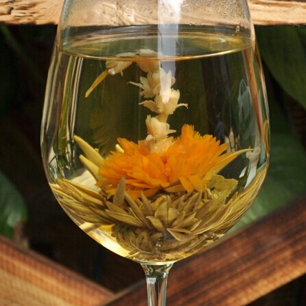Free Shipping 1pcs Chinese handmade flower blooming tea ball artistic tea health and beauty organic natural flower tea<br><br>Aliexpress