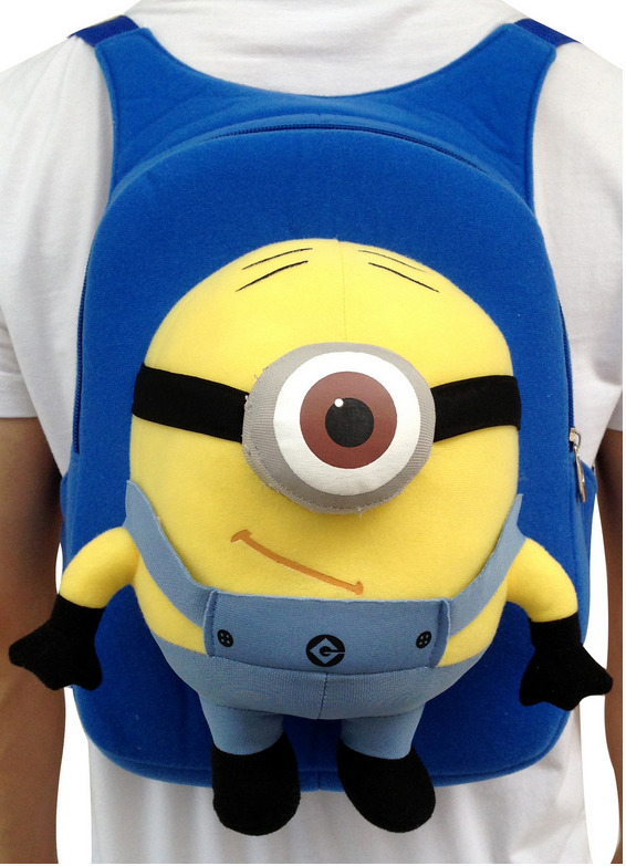 despicable me minion kids plush toys big toy yellow doll 3d unicorn movie boys party bags gift plastic large mochila(China (Mainland))