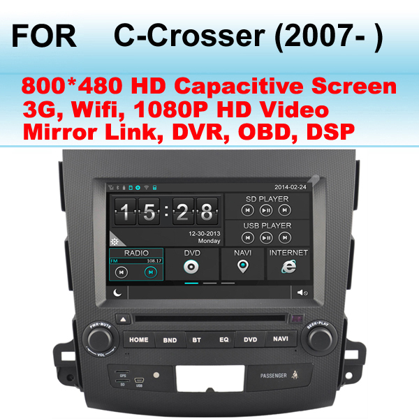 For Citroen C-Crosser Car GPS (2007- ) Support WIFI 3G ,1080P HD Video Play,Mirror Link (Phone Link)(China (Mainland))