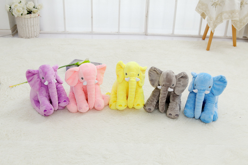 ?QWZ New 40cm Fashion Animals ( ^ ^)? Toys Toys Stuffed Soft Elephant ? Pillow Pillow Baby Sleep ...